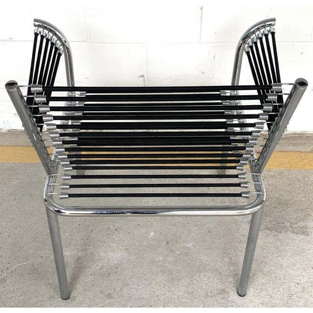 Metal Modern Bungee Armchair For Sale - Image 7 of 10