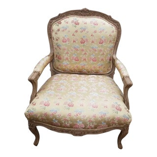 Chippendale Style Bergere Chair For Sale