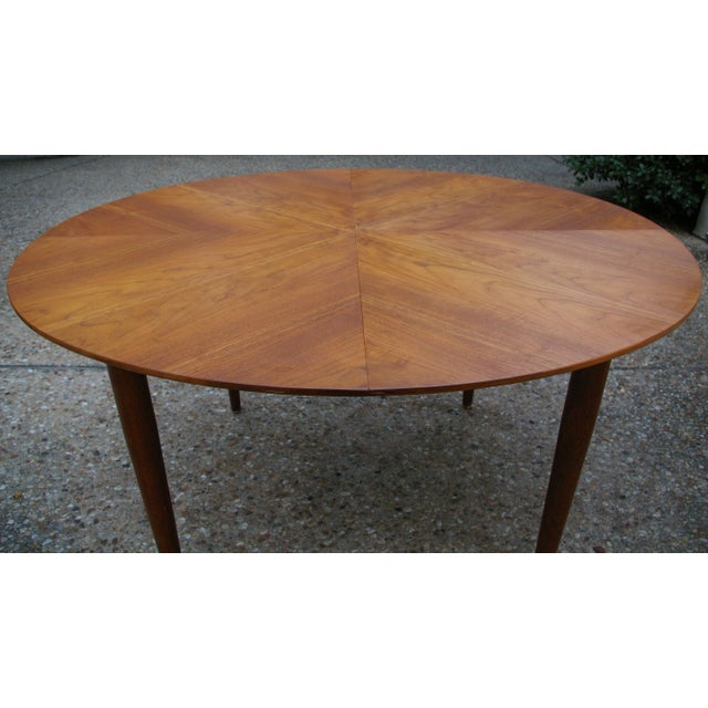 Baker Mid-Century Walnut Dining Table - Image 8 of 8