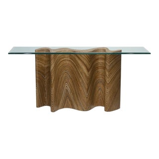 Zigzag Console For Sale
