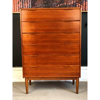 1960's Mid-Century Danish Modern Teak Tall Highboy Preview