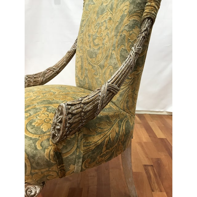 Empire Grosfeld House Lee Jofa Printed Velvet Chair For Sale - Image 6 of 12