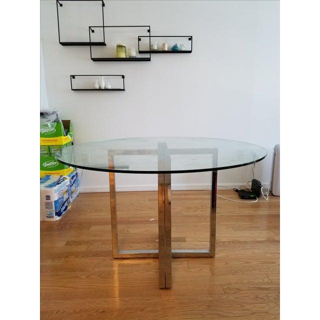 """Silverado Chrome 47"""" Round Dining Table - Image 5 of 5"""
