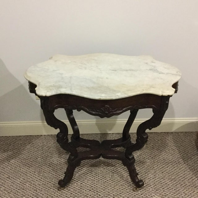 Antique Marble Top Center Table - Image 2 of 7