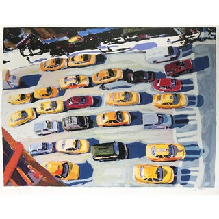 Tom Christopher Artist Proof Silkscreen New York City Taxis For Sale
