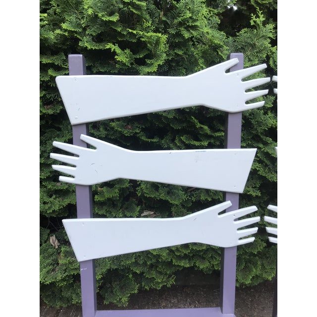 """Whimsical Post Modern Artist Made """"hand"""" Chairs -A Pair For Sale In Portland, OR - Image 6 of 8"""