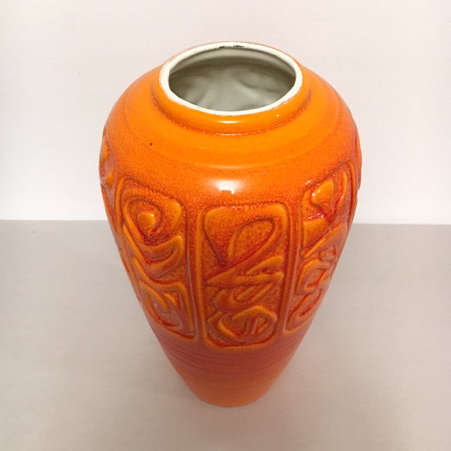 Mid Century Orange Ceramic Vase By Royal Haeger Chairish