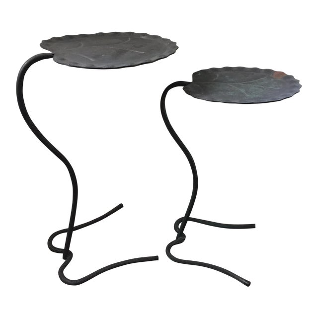 Salterini Lily Pad Nesting Tables - a Pair - Image 1 of 9