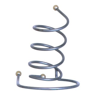1990s Post Modern Wire Coil Umbrella Stand For Sale