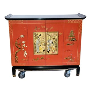 1960s Asian Modern Zenith Tv Cabinet For Sale