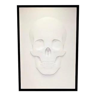 3D Skull Art Piece on Canvas, Framed For Sale