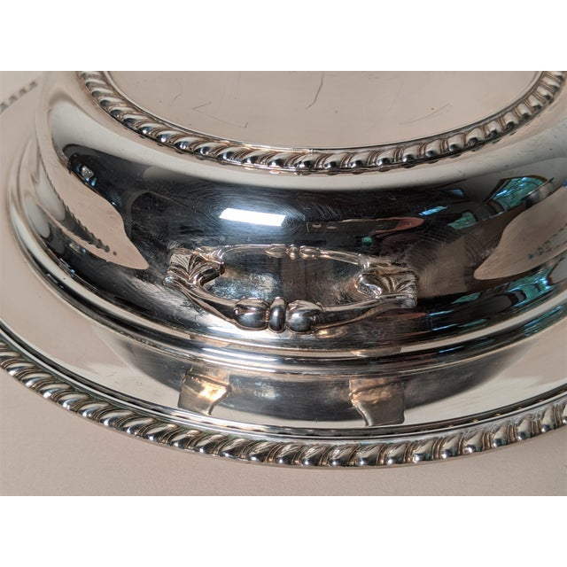 Metal Epc 1940s Silver Plate Serving Dish For Sale - Image 7 of 13