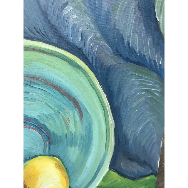 1990s Impressionist Still Life Painting of Lemons a Bowl For Sale In Charleston - Image 6 of 9
