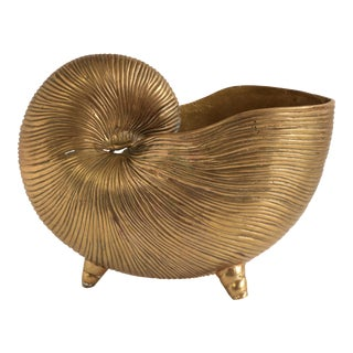 Brass Nautilus Shell Centerpiece For Sale