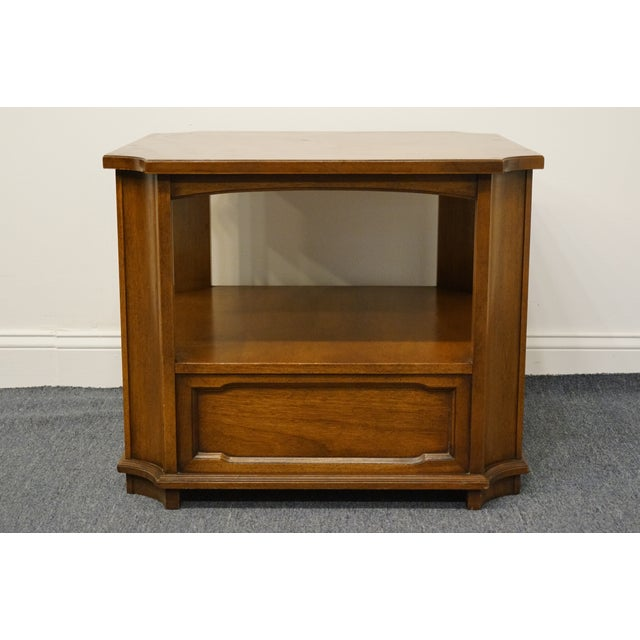 """Drexel Heritage Triune Collection Mahogany 27"""" Square Accent End Table For Sale - Image 9 of 13"""