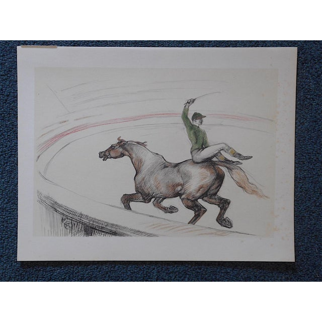 """Vintage """"The Circus"""" Toulouse Lautrec Lithograph - Image 3 of 5"""