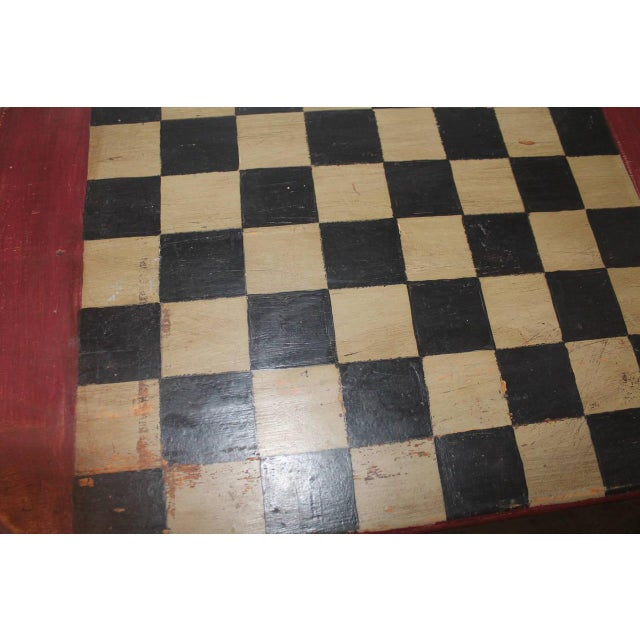 Folky Early 20th Century Original Painted Gameboard - Image 4 of 4