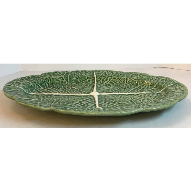Mid 20th Century Vintage Majolica Cabbage Platter For Sale - Image 5 of 8