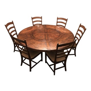Jonathan Charles Round Dining Room Table and Chairs - Dining Set