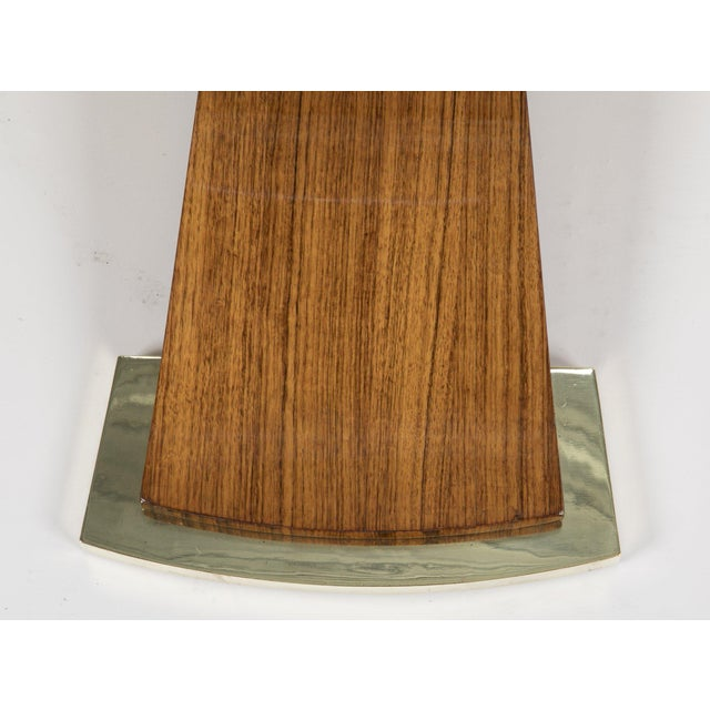 Jules Leleu Mahogany, Bronze and Glass Coffee Table For Sale - Image 9 of 13