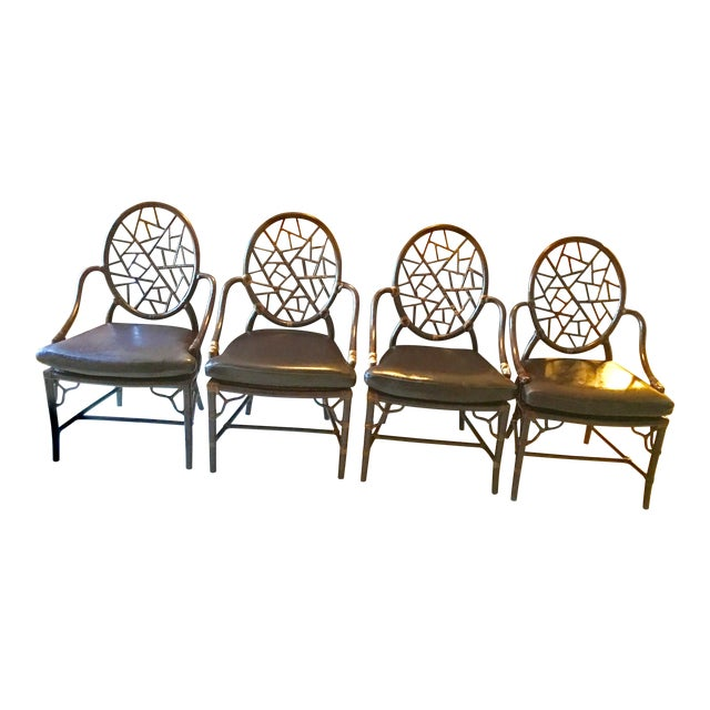 Maguire Crackled Ice Chairs - Set of 4 For Sale