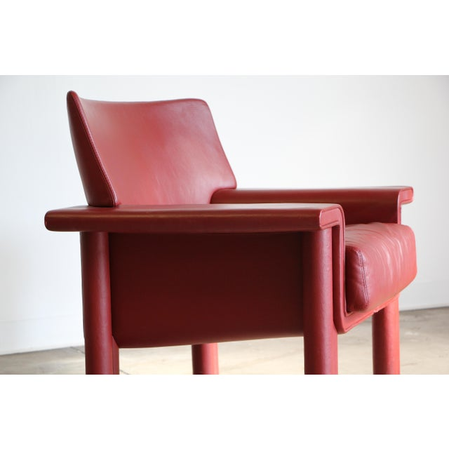 Afra & Tobia Scarpa Afra & Tobia Scarpa Leather Lounge Chair For Sale - Image 4 of 13