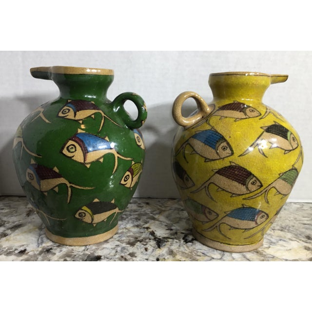 Vintage Persian Ceramic Vessels - A Pair - Image 10 of 11