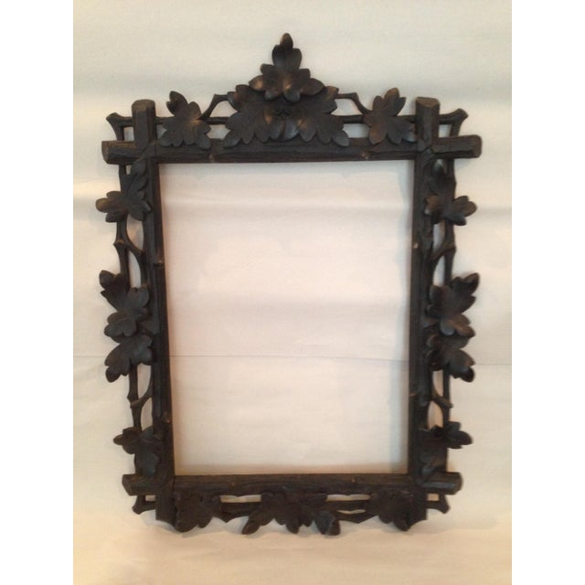 Antique Carved Black Forest Frame - Image 2 of 9