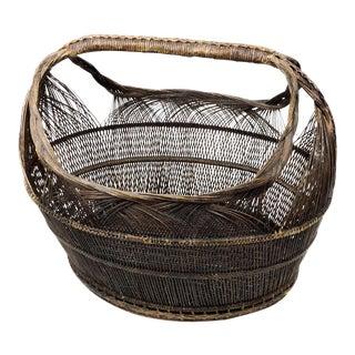 Magnificent Huge Antique Victorian Basket For Sale