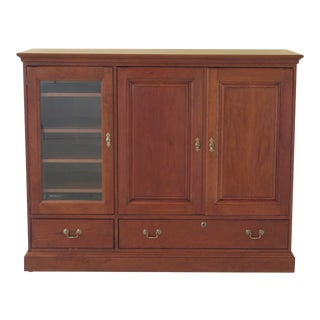 Stickley Solid Cherry Media Tv Entertainment Cabinet For Sale