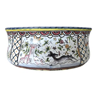 Decorative 'Estrelade Conimbriga' Oval Bowl