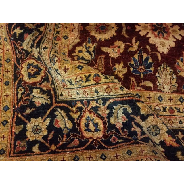 1990s Kafkaz Peshawar Red & Blue Wool Rug - 9'0 X 12'2 For Sale - Image 5 of 7