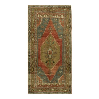 Vintage Turkish Oushak Rug 4'7 X 8'7 For Sale