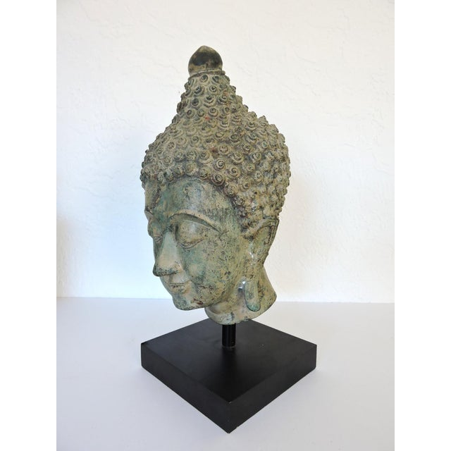 Asian Mounted Bronze Representation of Buddha (Sukhothai), Thailand For Sale - Image 3 of 7