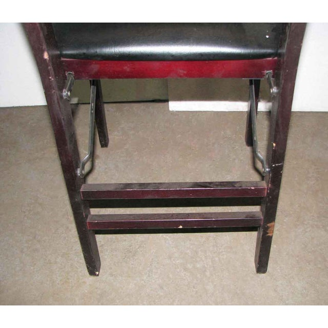 Antique Black Folding Wood Chair For Sale - Image 6 of 11