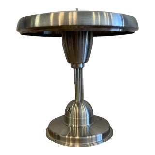 Space Age Aluminum Table Lamp For Sale