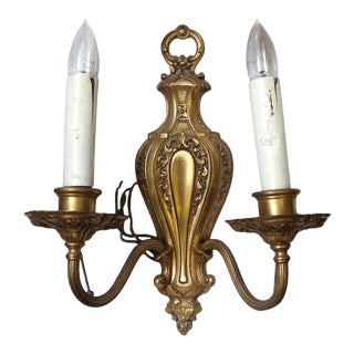 Victorian Ornate Two Arm Sconce For Sale