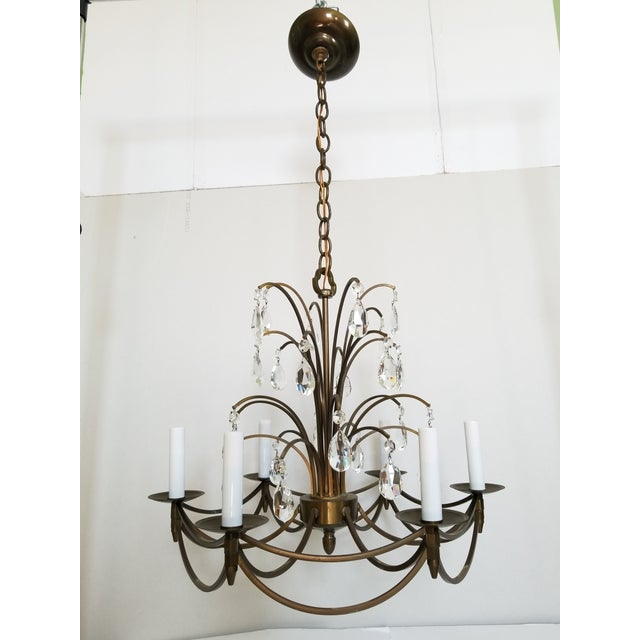 Mid-Century Modern Crystal Swedish Chandelier For Sale - Image 13 of 13