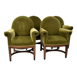 Art Deco Oak Management Chairs by Pander For Sale