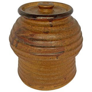 Studio Pottery Jar With Lid For Sale