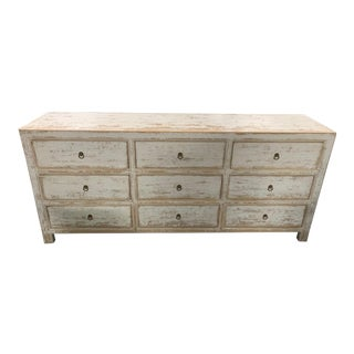 Hand Distressed White Dresser For Sale