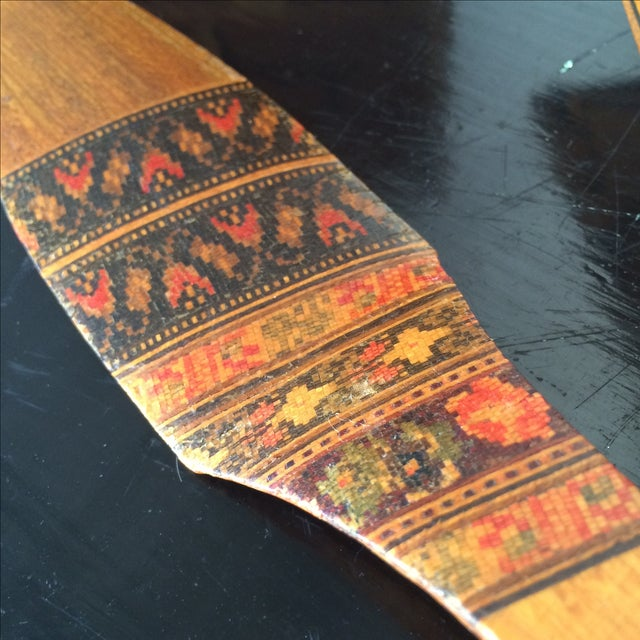 Small Marquetry Wooden Collection with inlay For Sale - Image 4 of 8