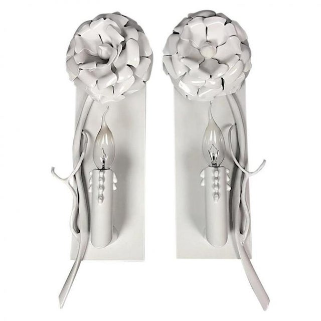 """White Brand Van Egmond Floral """"Love You Love You Not"""" Chandelier For Sale - Image 8 of 9"""