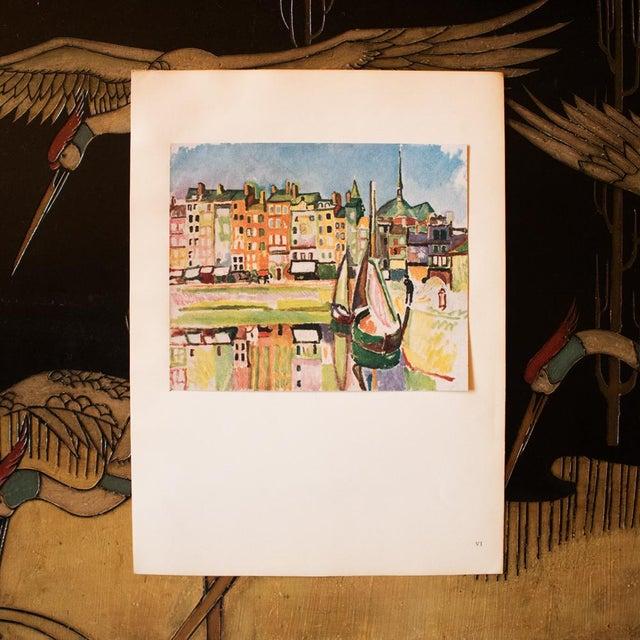 """French 1948 Raoul Dufy, Original Period Parisian Lithograph """"Le Port D'Honfleur"""" For Sale - Image 3 of 8"""