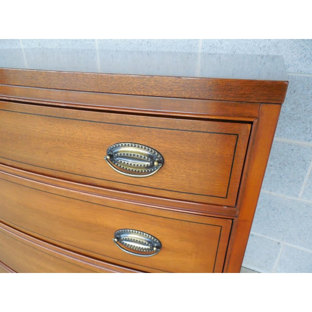 Brown Henredon Heritage Federal Hepplewhite Style Bachelor Chest For Sale - Image 8 of 11