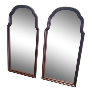 Traditional Walnut Frame Mirrors - a Pair For Sale