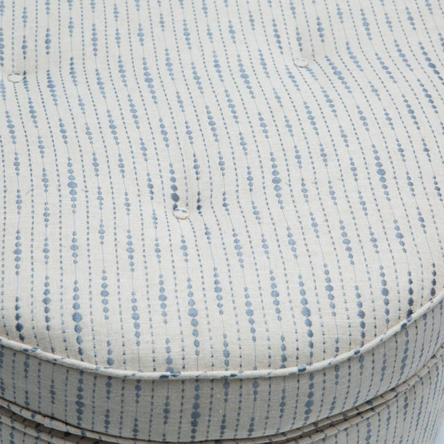 Textile Trefoil Shaped Upholstered Ottoman For Sale - Image 7 of 7