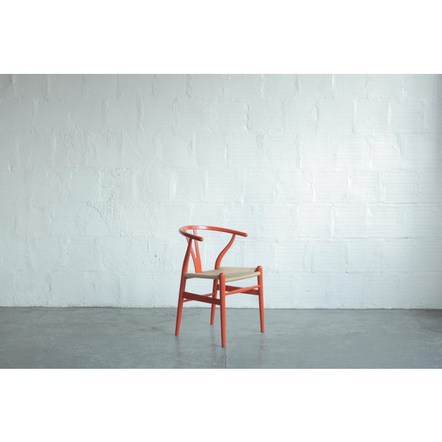 Mid-Century Modern Vintage Hans Wegner Wishbone Chair For Sale - Image 3 of 8