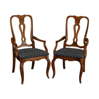 Ethan Allen Country French Collection Pair Armchairs For Sale