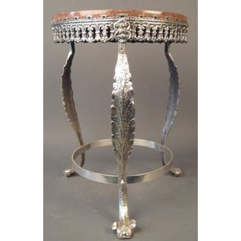 Early 20th Century 20th Century Art Deco Silver Over Bronze Side Table For Sale - Image 5 of 8